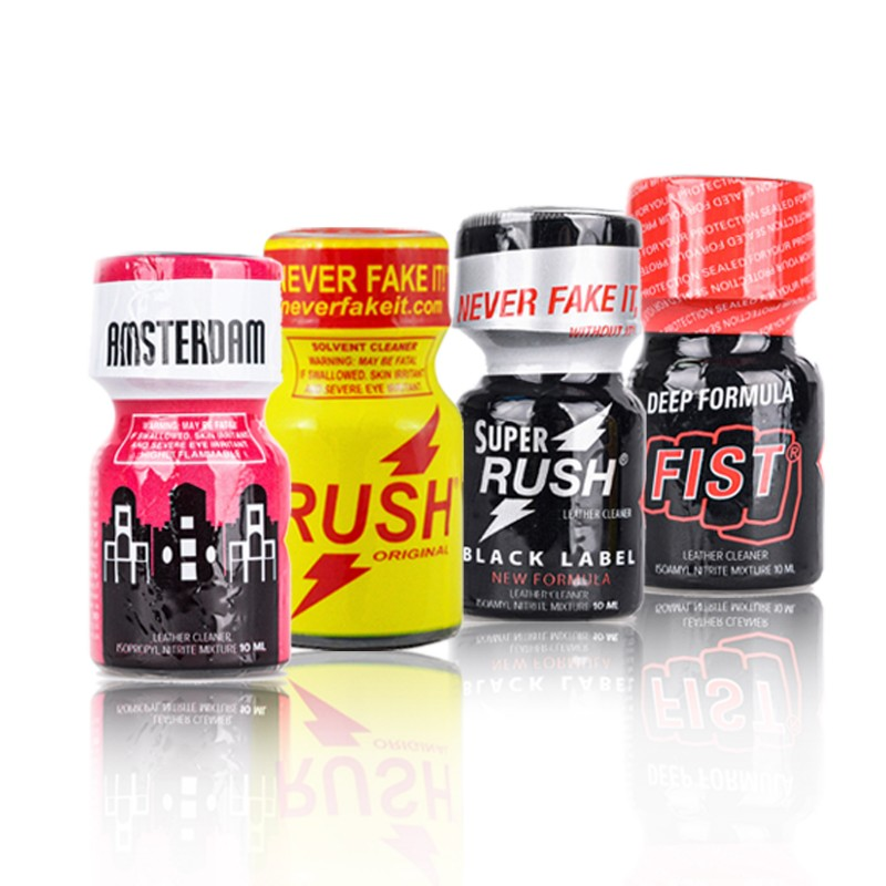 Poppers Packs - Amsterdam - Rush - Rush Black Label - Fist - 10 ml