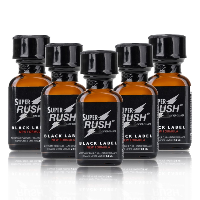 Pack Poppers Super Rush Black Label X5 - 24ml