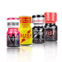 Packs de Poppers Rush - Jungle Juice - Amsterdam - Blue Boy - Oink