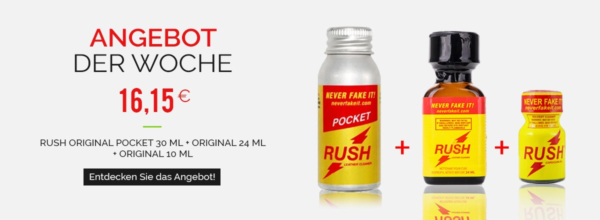 Poppers Packs Rush Pocket Original 30ml + Rush Original 24ml + Rush Original 10ml