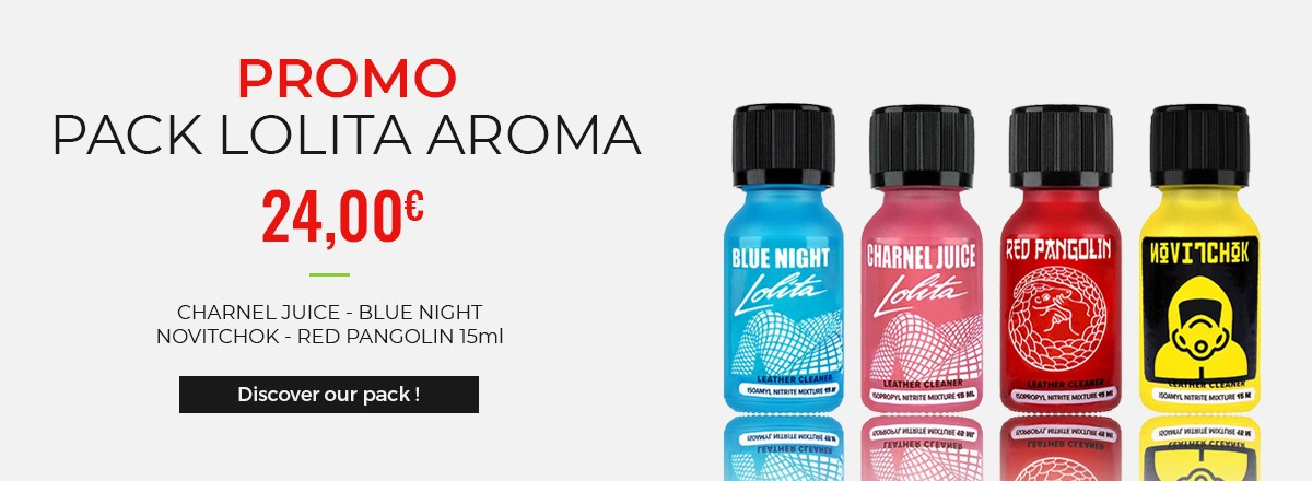 Promotion - Lolita Poppers (Blue Night, Charnel Juice, Novitchok and Red Pangolin)