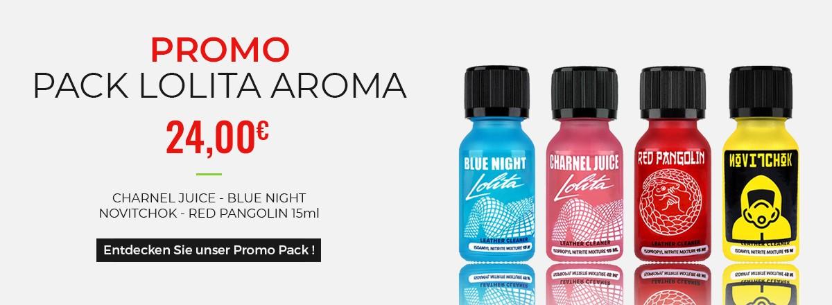 Aktion - Lolita Poppers (Blue Night, Charnel Juice, Novitchok und Red Pangolin)