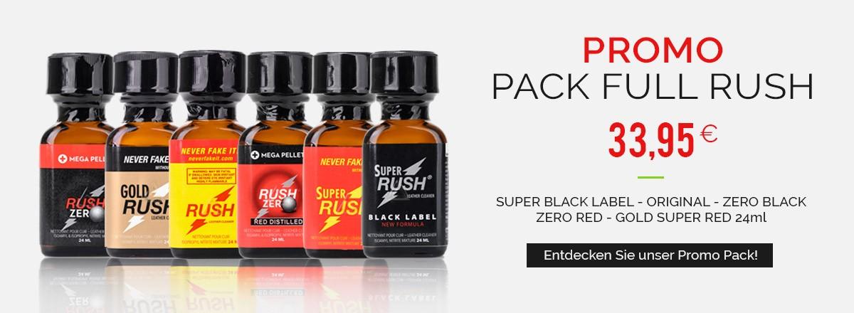 Poppers Packs - Rush Original - Rush Gold - Rush Zero - Super Rush - Rush Black Label